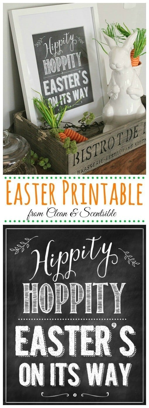 Easter Printable - Clean & Sensible featured on Ideas for the Home by Kenarry®