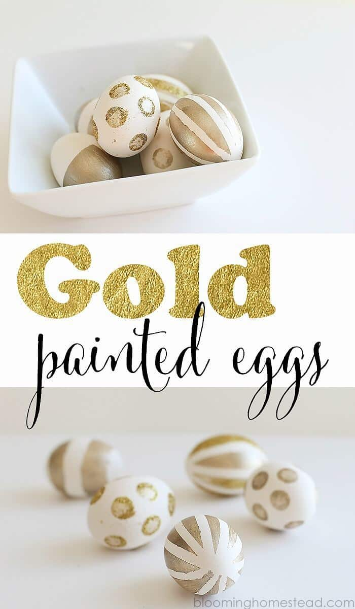 DIY Gold Painted Eggs - Blooming Homestead featured on Ideas for the Home by Kenarry™