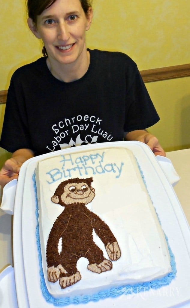 A Curious George Birthday Cake from Ideas for the Home by Kenarry.