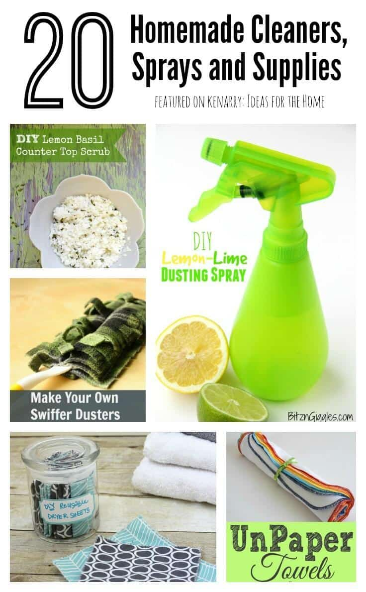 Homemade cleaners 20 diy sprays and supplies - Home made cleaning products ...
