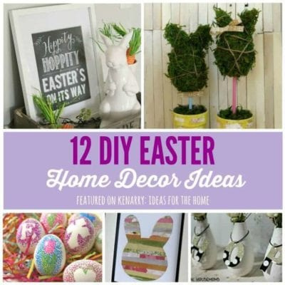 Love these beautiful ideas! 12 Easter home decor ideas to spruce up your home for spring including free printables.