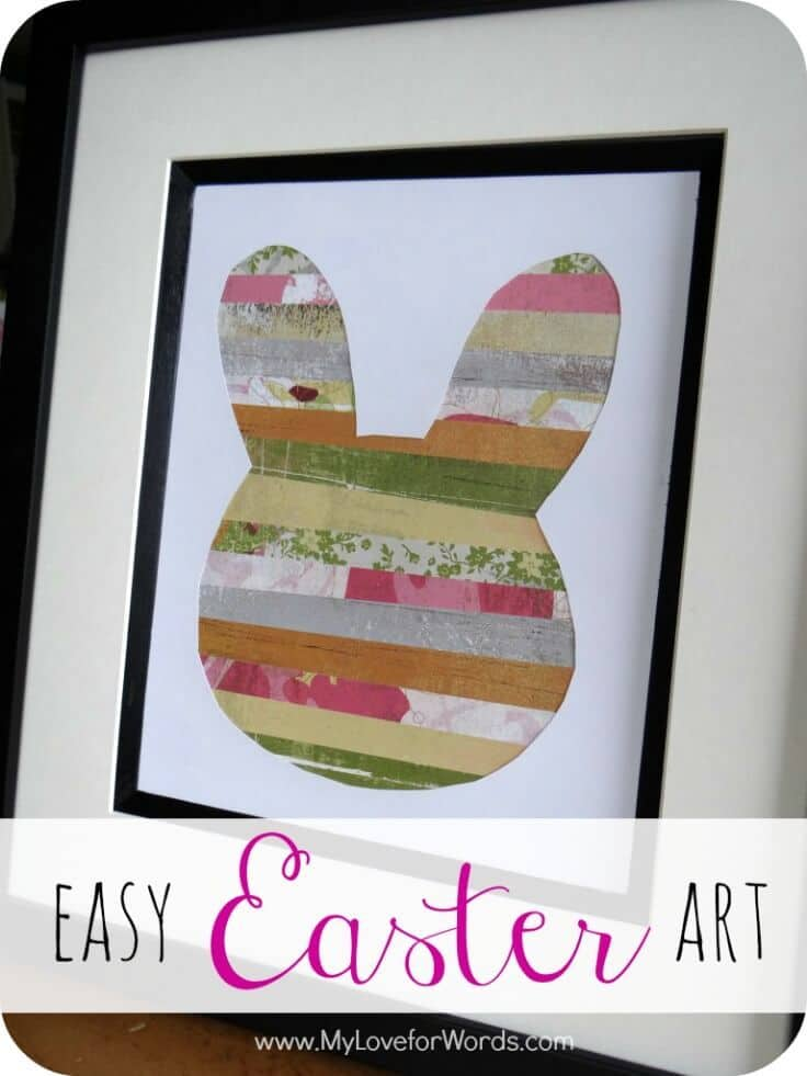 Easy Easter Art - My Love for Words featured on Ideas for the Home by Kenarry®