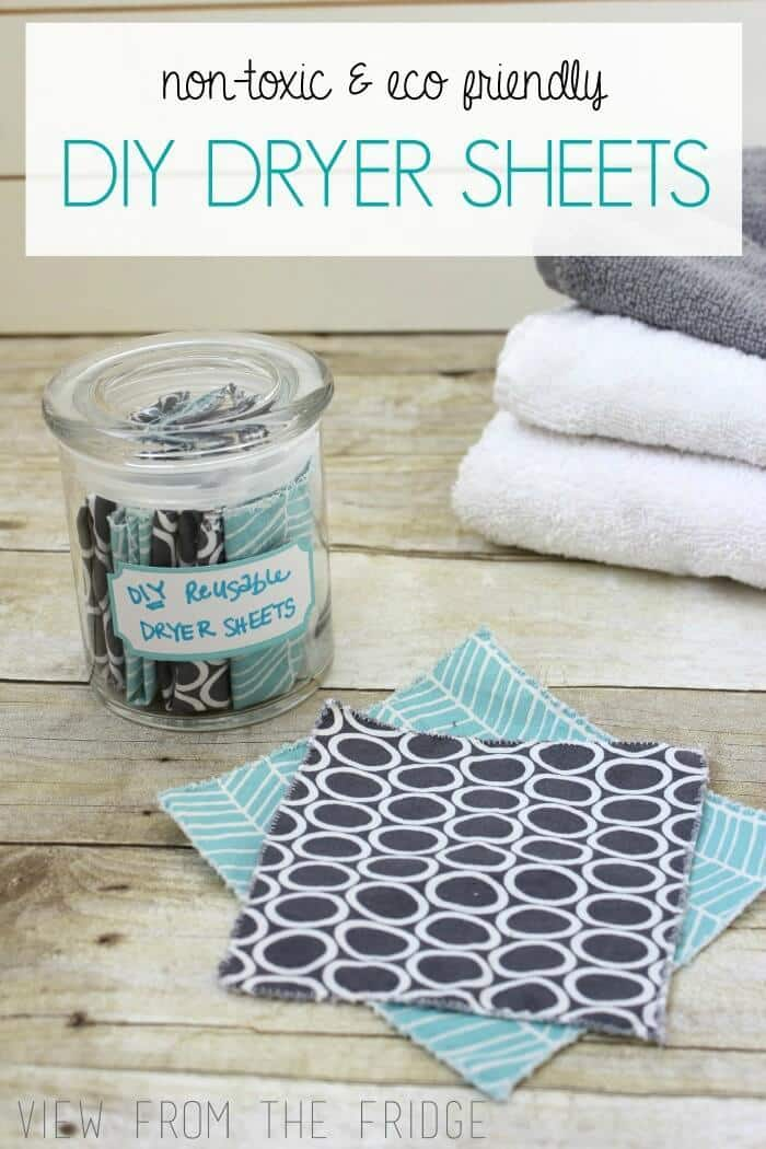 Homemade Dryer Sheets - View From The Fridge featured on Ideas for the Home by Kenarry®