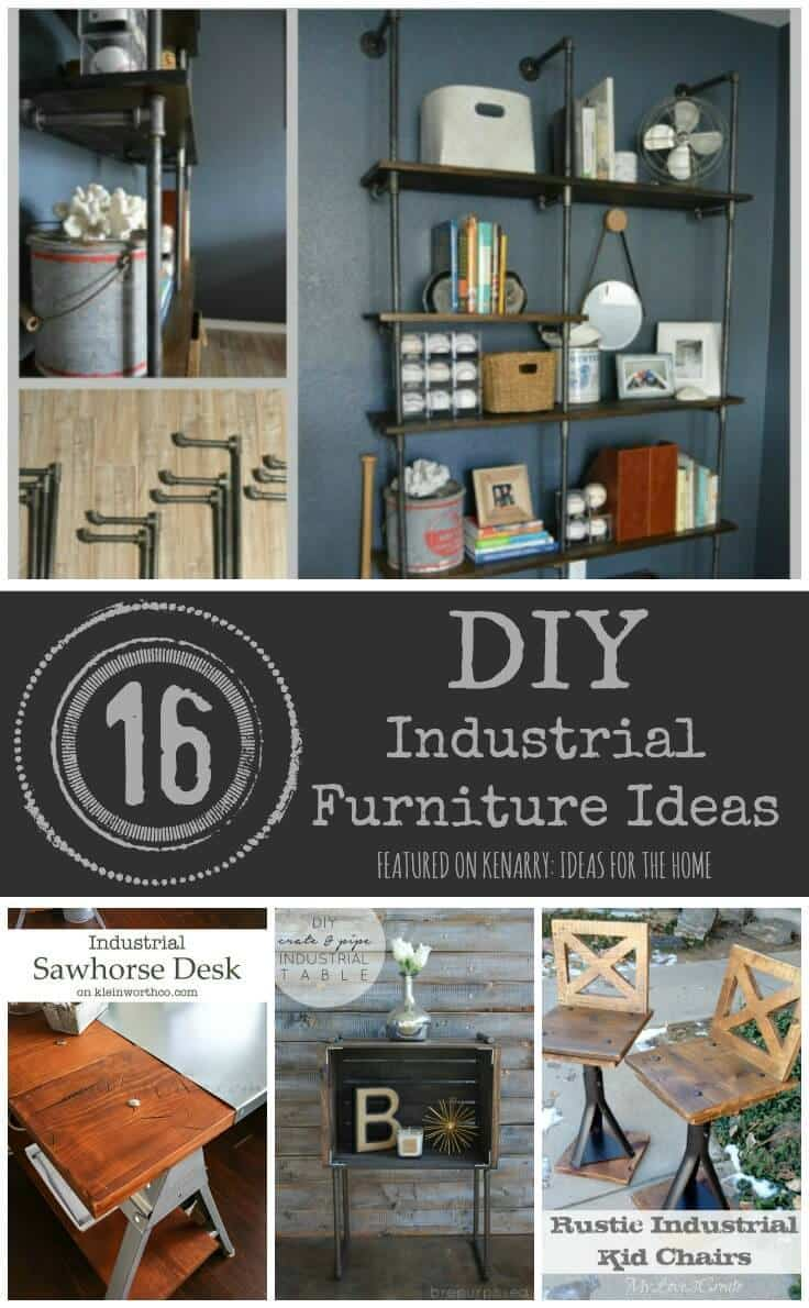 industrial furniture: 16 diy metal home decor ideas