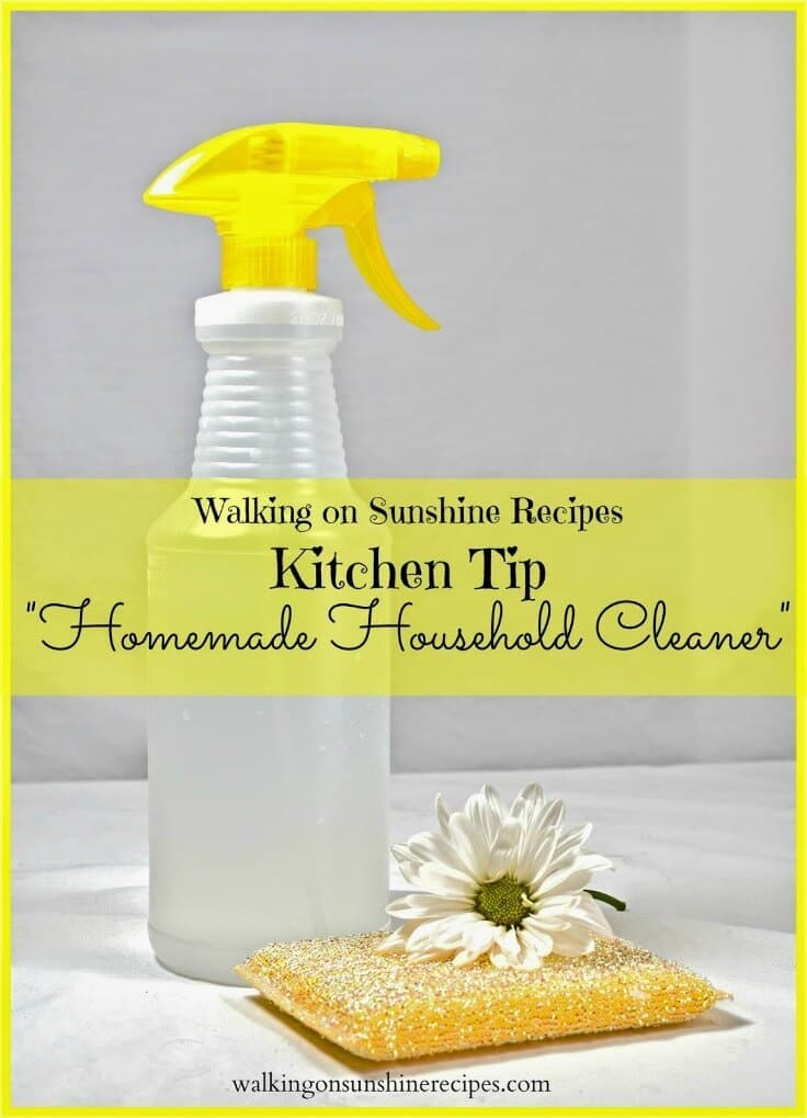 Homemade Household Cleaner / Kitchen Tip - Walking on Sunshine featured on Ideas for the Home by Kenarry®