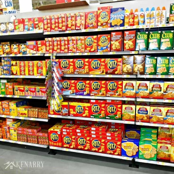 RITZ® Crackers are available in the snack aisle at your local Walmart.