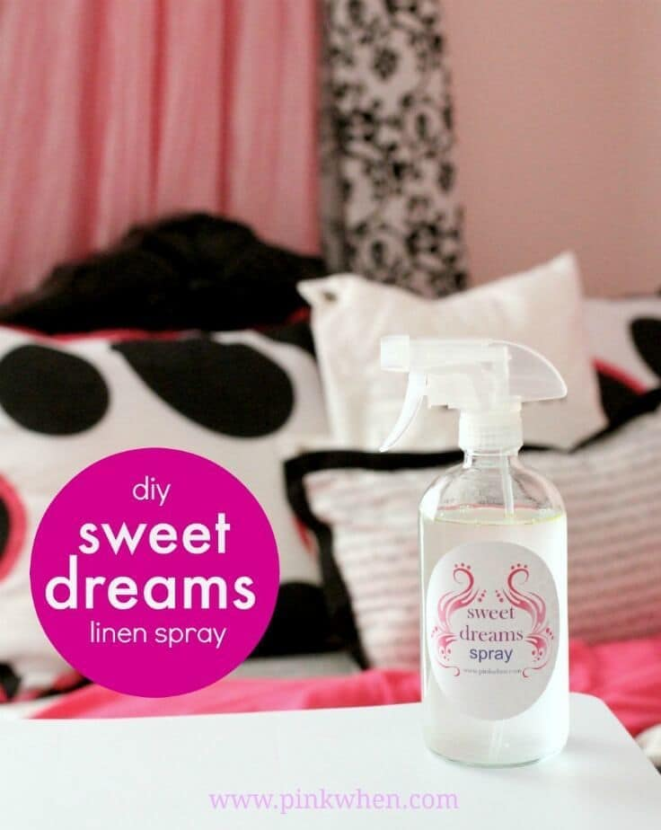 Sweet Dreams Linen Spray - Pink When featured on Ideas for the Home by Kenarry®