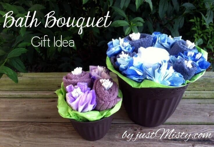 Bath Towel Flower Bouquet DIY Gift Idea - Just Misty featured on Ideas for the Home by Kenarry®