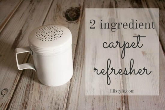 2 Ingredient Carpet Refresher and Deodorizer - illistyle featured on Ideas for the Home by Kenarry®