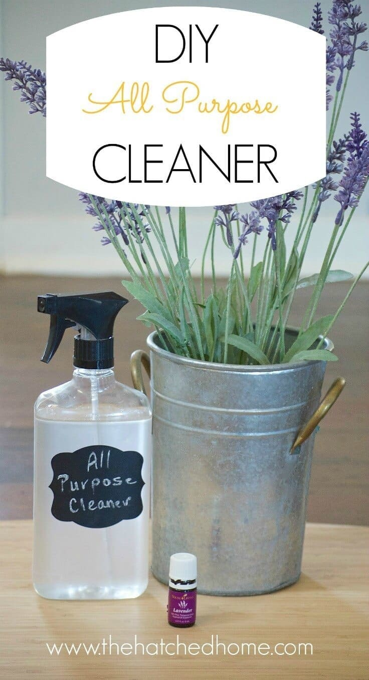DIY All Purpose Cleaner - The Hatched Home featured at Ideas for the Home by Kenarry®
