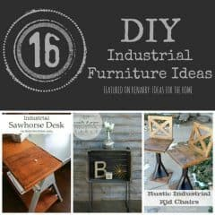 Love industrial furniture? Get the metal look for less. Here are 16 amazing ideas to make your own including DIY tables, shelves, carts, chairs, desks and coffee tables. - Kenarry.com