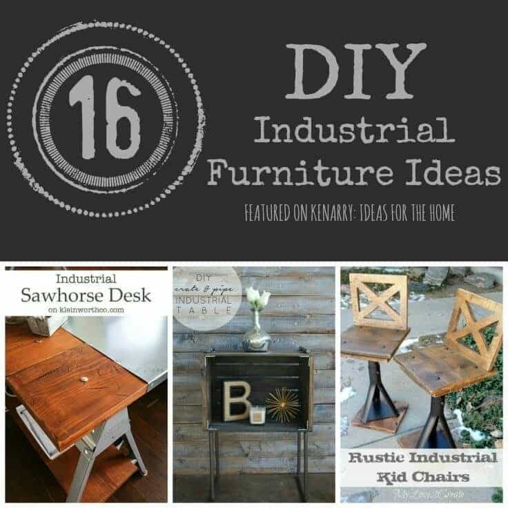 Industrial Furniture 16 DIY Metal Home