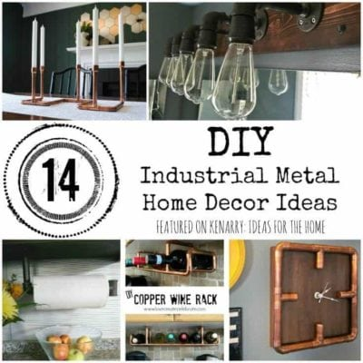 What clever metal home decor ideas! I love the look of industrial iron and copper in these DIY accessories for the home.