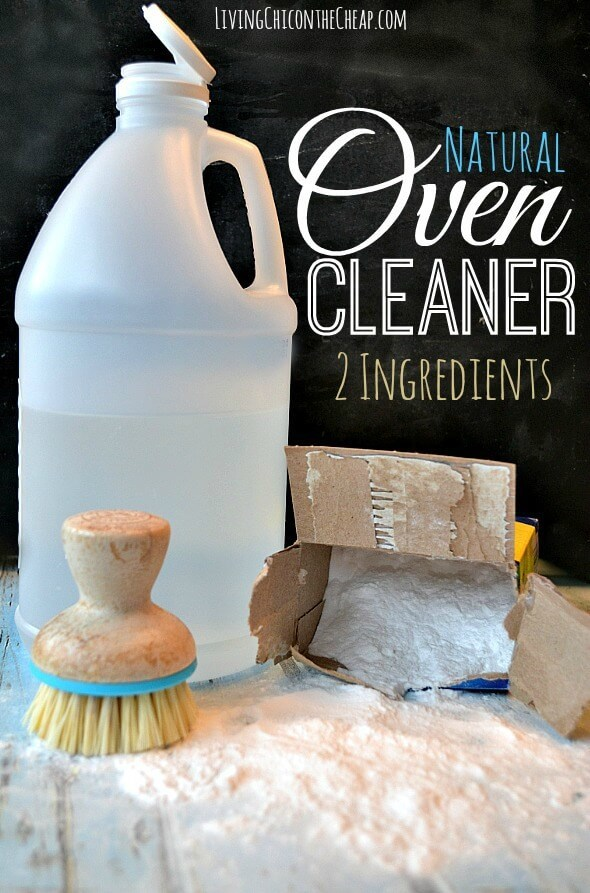 DIY Natural Oven Cleaner - Living Chic on the Cheap featured on Ideas for the Home by Kenarry®
