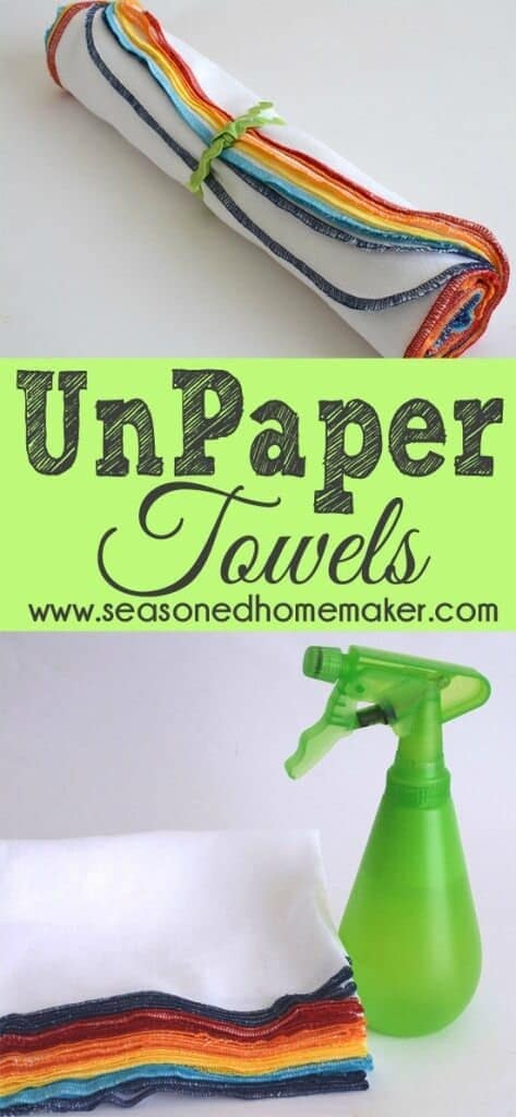 UnPaper Towels, Reusable Paper Towels, Paperless Towels - The Seasoned Homemaker featured at Ideas for the Home by Kenarry®