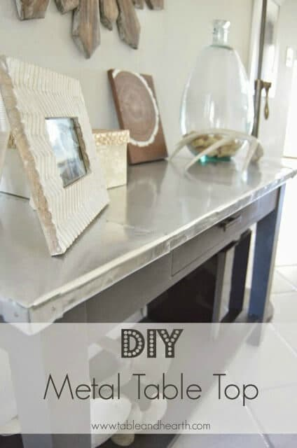 DIY Metal Table Top   Table And Hearth Featured On Kenarry: Ideas For The  Home