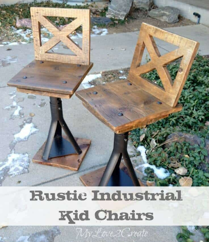 Rustic Industrial Kid Chairs   My Love 2 Create Featured On Kenarry: Ideas  For The