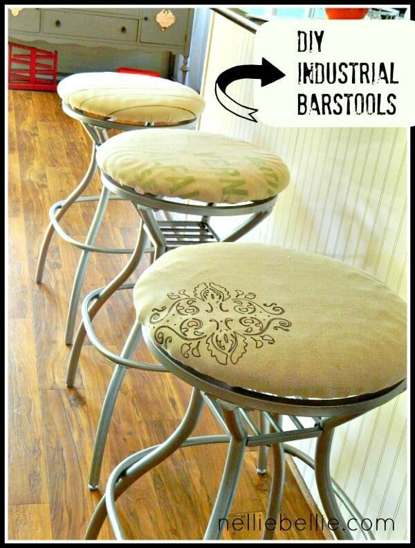 industrial furniture diy. beforeafter industrial barstools nellie bellie featured on kenarry ideas for the home furniture diy m