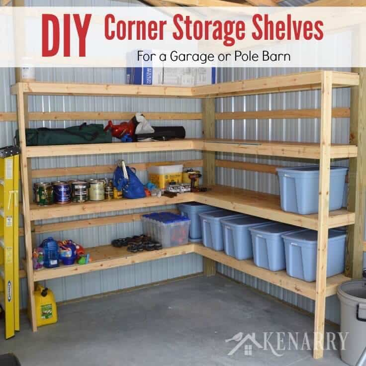 Astounding Diy Corner Shelves For Garage Or Pole Barn Storage Download Free Architecture Designs Philgrimeyleaguecom