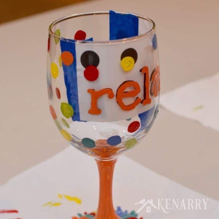 Hand painted wine glasses how to make your own for What paint do you use to paint wine glasses