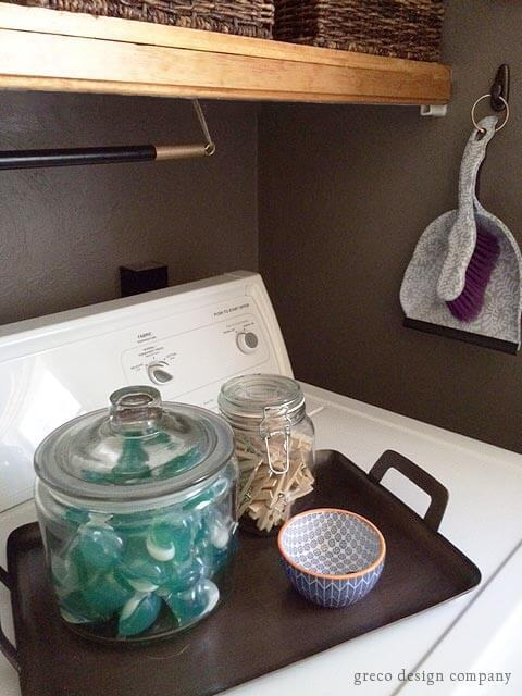 laundry room tray and storage