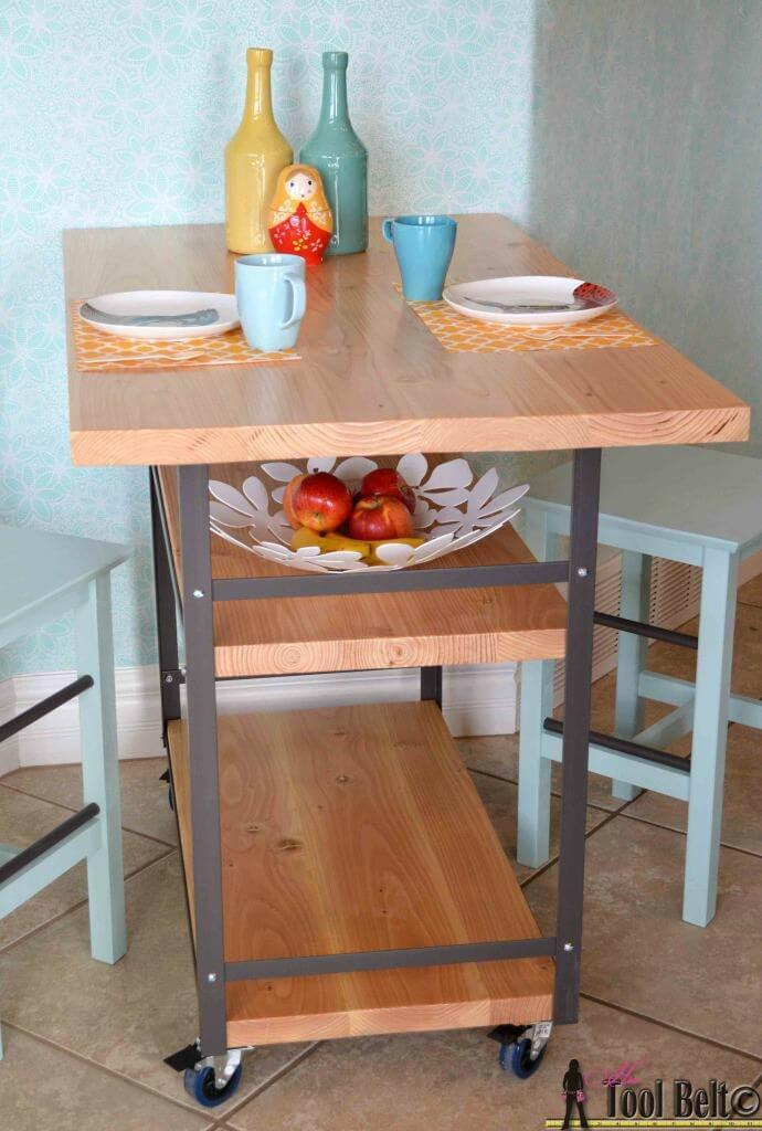 Rolling Island + Counter Table   Her Tool Belt Featured On Ideas For The  Home By