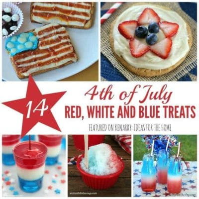 So many fun 4th of July recipes! Celebrate Independence Day with red, white and blue ideas for drinks, snacks, desserts and other treats for your barbecue party or picnic.