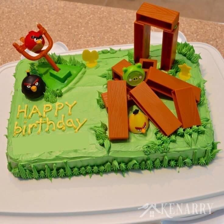 Prime Angry Birds Cake An Easy Birthday Idea Funny Birthday Cards Online Fluifree Goldxyz