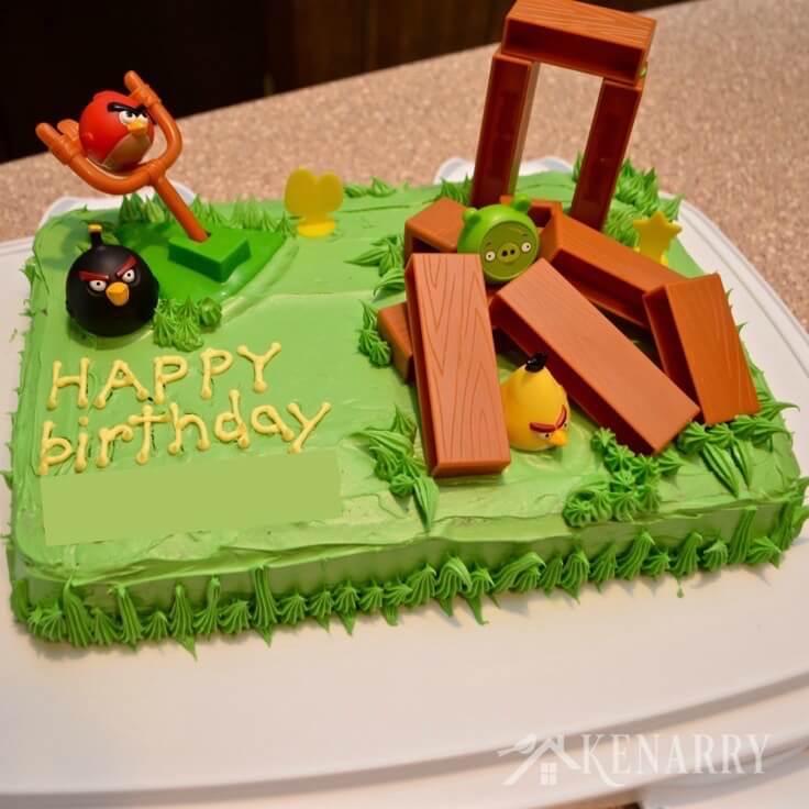 Angry Birds Cake An Easy Birthday Idea