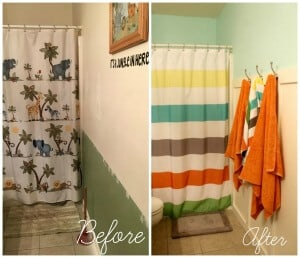 Kids' Bathroom Makeover - Occasionally Crafty