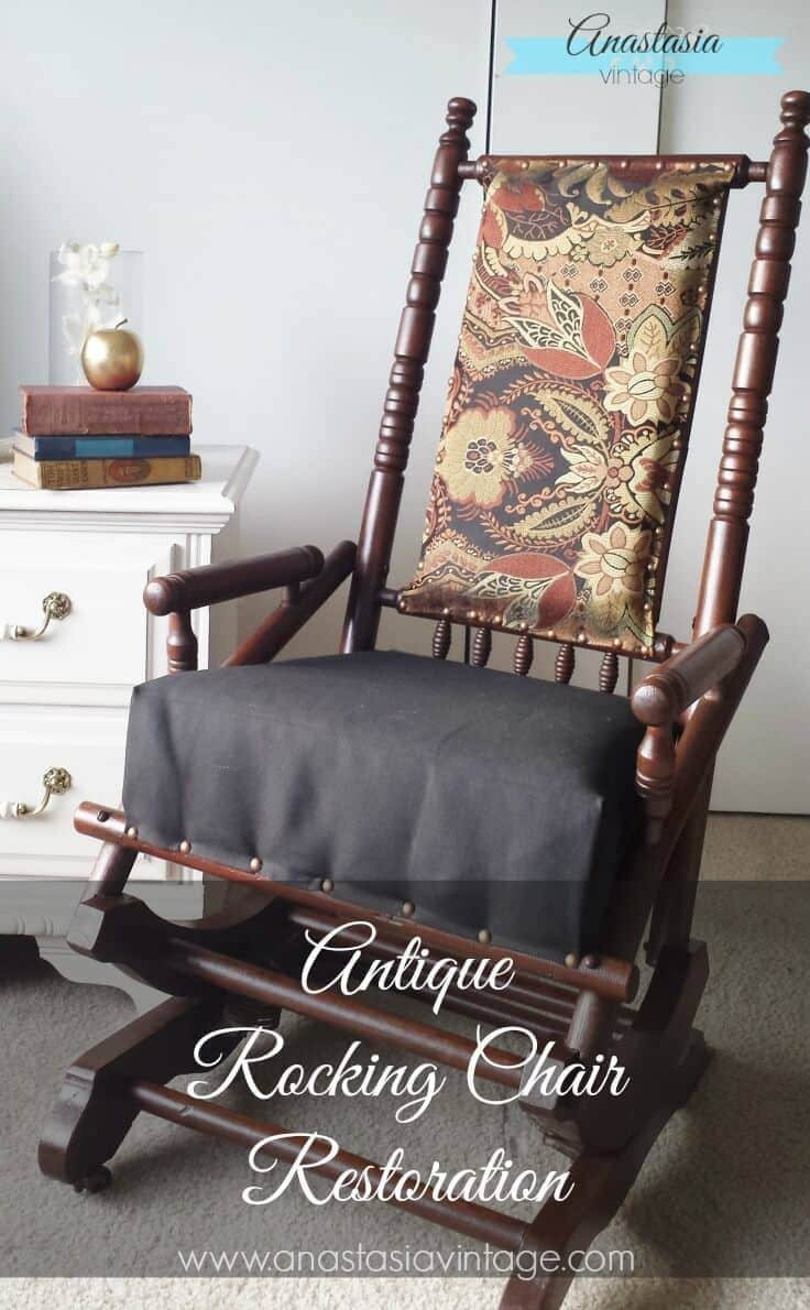 Broken to Beautiful Antique Rocking Chair Restoration | Anastasia Vintage - Antique Rocking Chair Restoration: Broken To Beautiful