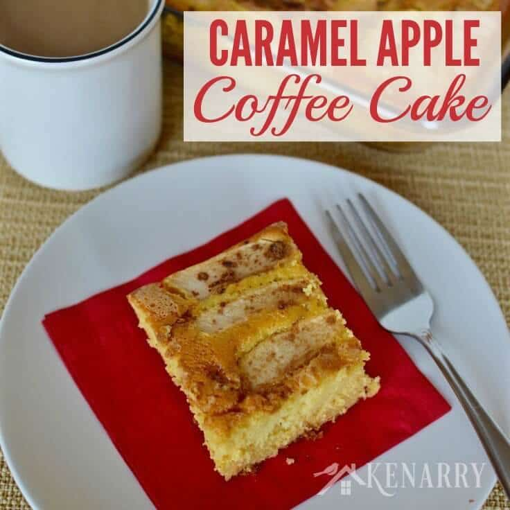 Caramel Apple Coffee Cake recipe is a great fall idea for the next breakfast, brunch or dessert you host for friends at your home.