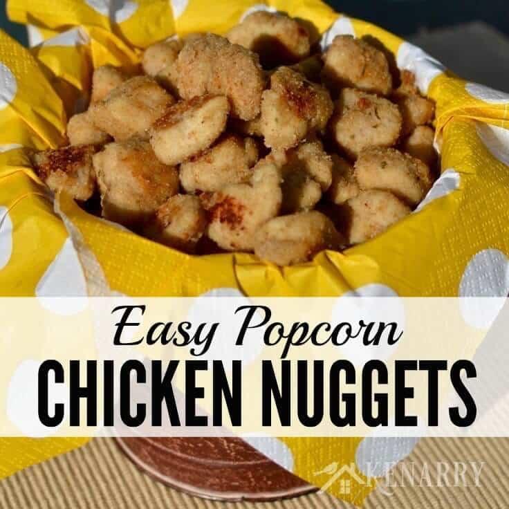Popcorn chicken nuggets recipe easy dinner idea forumfinder Choice Image