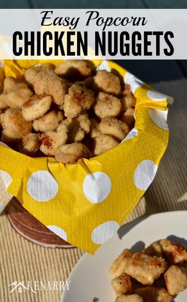 Easy Popcorn chicken nuggets recipe