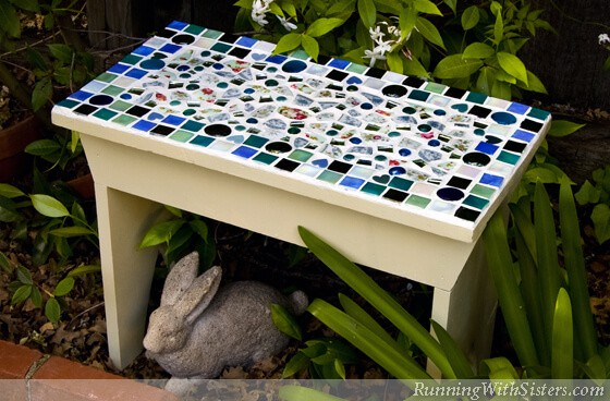 Mosaic-Garden-Bench