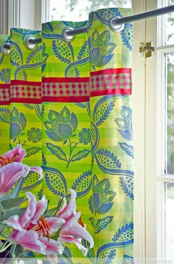 How to Sew Palm Beach Cafe Curtains - Running With Sisters featured on Ideas for the Home by Kenarry®