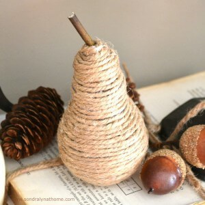 Make a Twine Pear - Sondra Lyn at Home