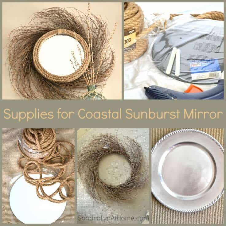 Supplies for Coastal Sunburst Mirror- Sondra Lyn at Home
