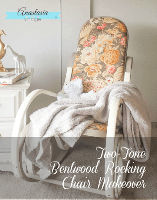 Two-Tone Bentwood Rocking Chair Makeover | Anastasia Vintage