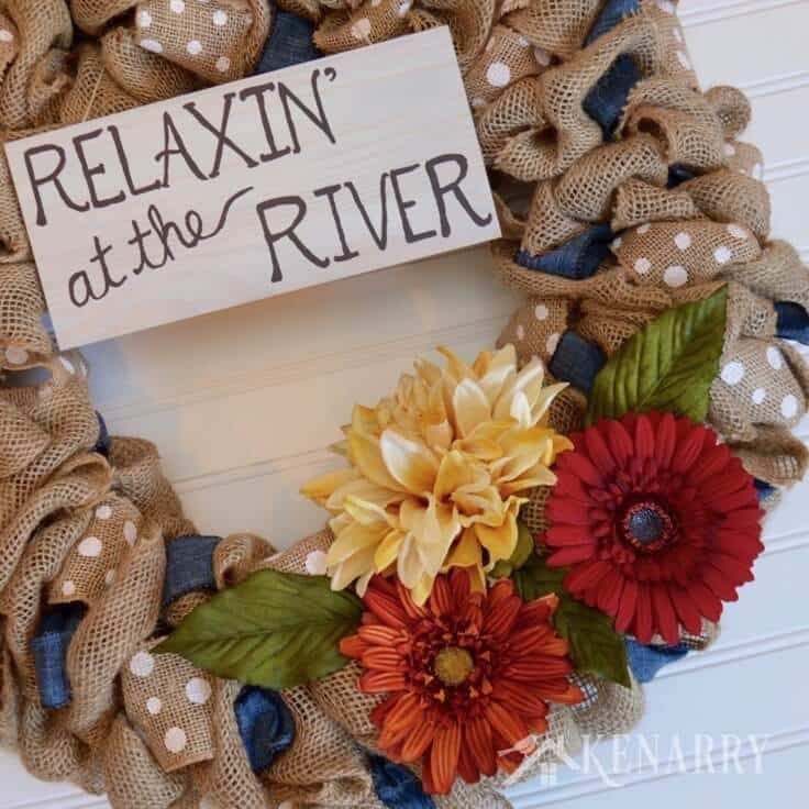 Great Ways To Use Burlap In Home Decor: Burlap Wreath Tutorial: Denim And Dots Cottage Decor