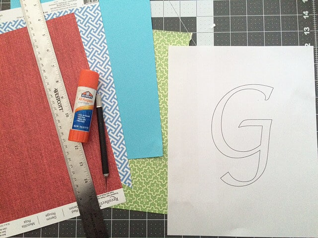Supplies needed for monogram wall art