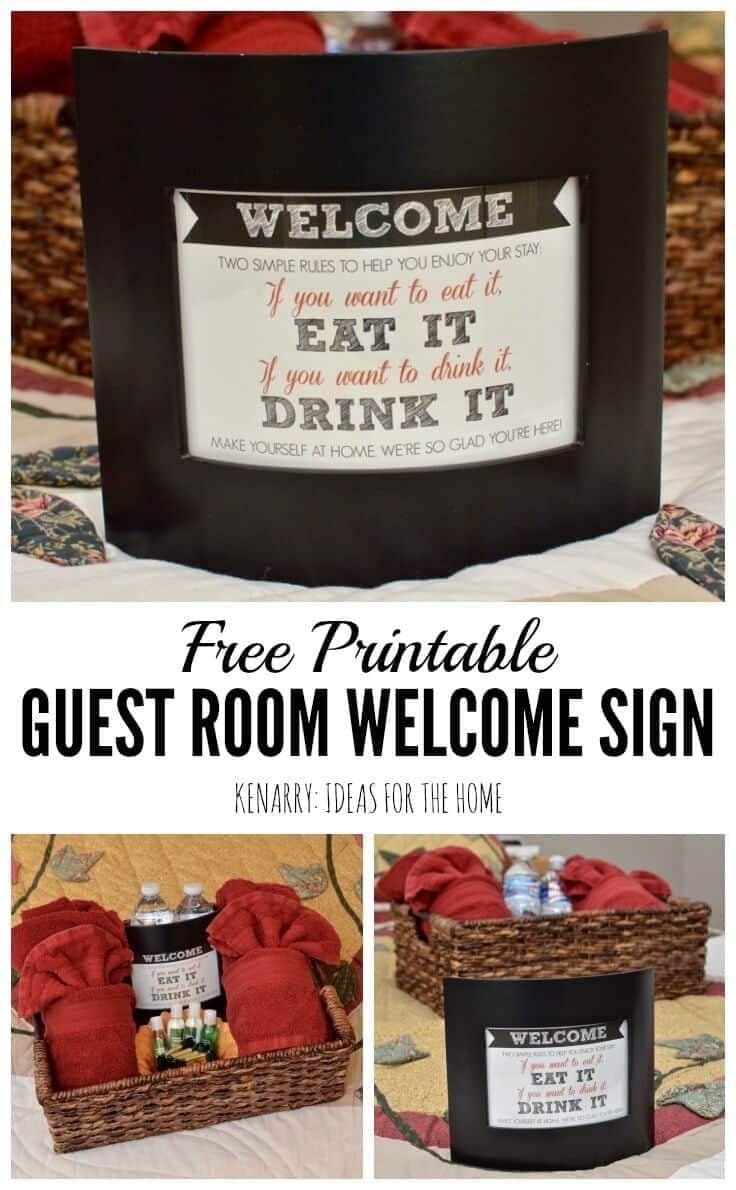 guest room art printable welcome sign what a fun idea to create a basket to welcome overnight ors use this
