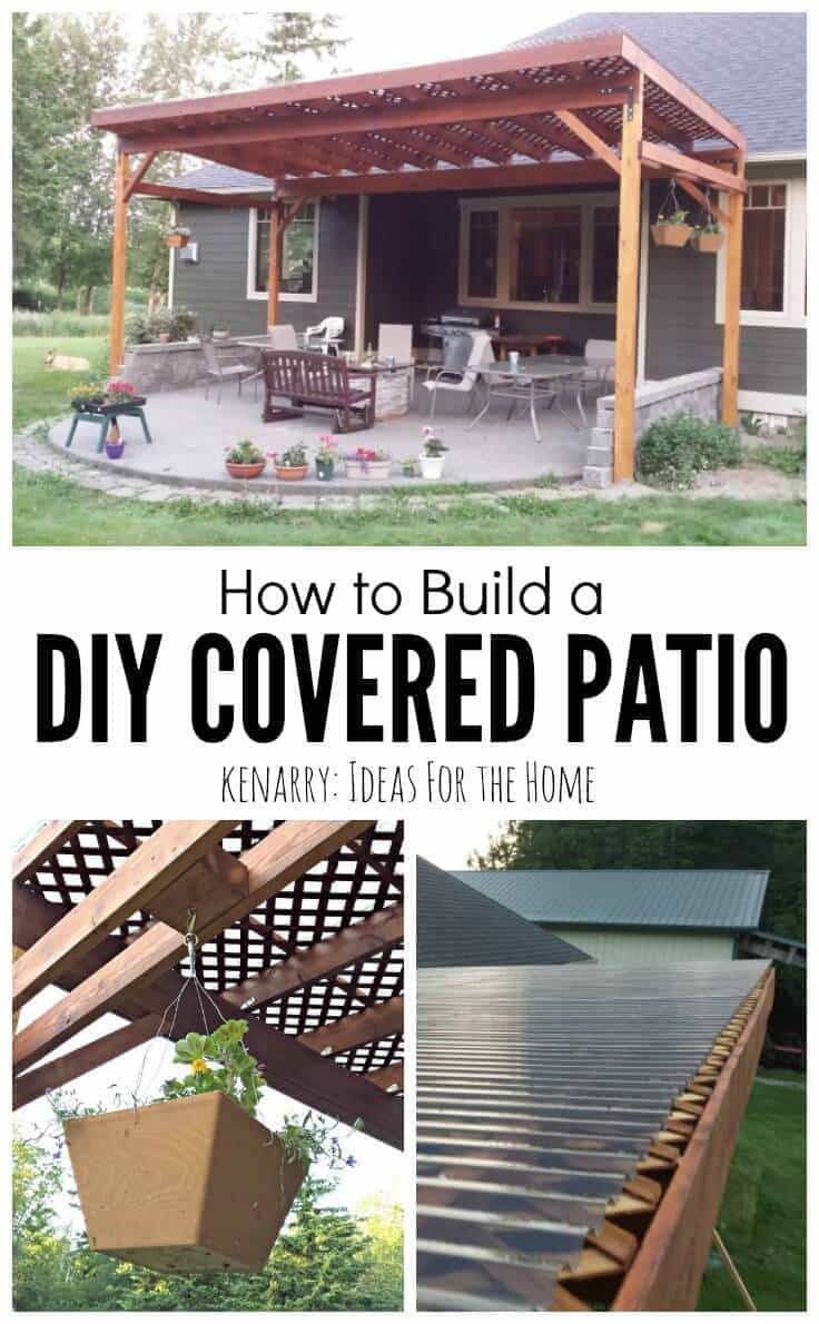 How to build a diy covered patio What is an atrium in a house