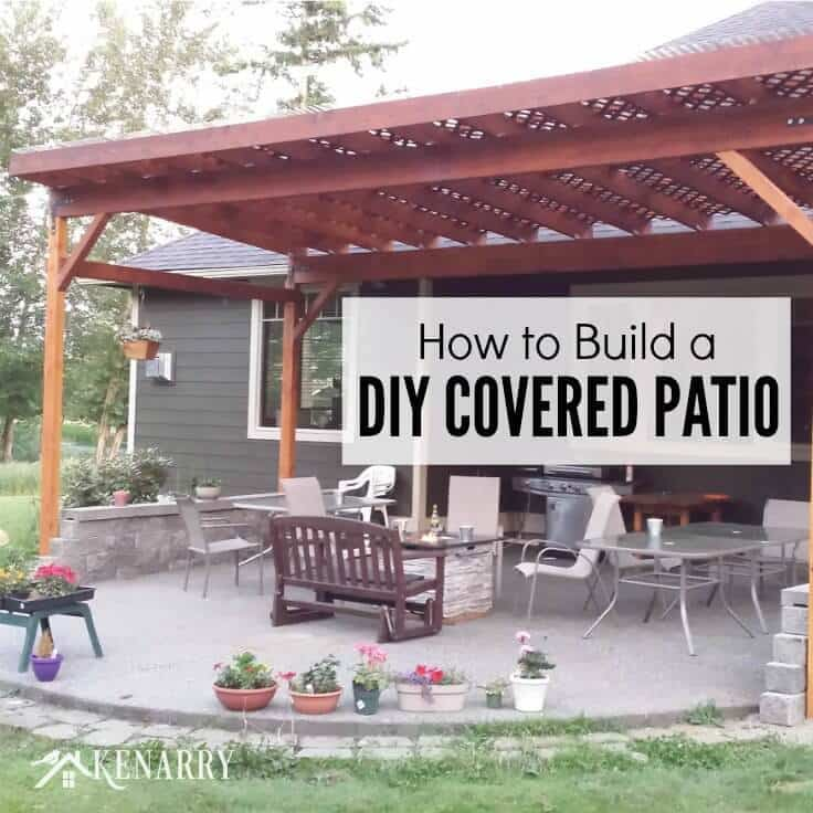 How to build a diy covered patio for How to build a custom home on a budget