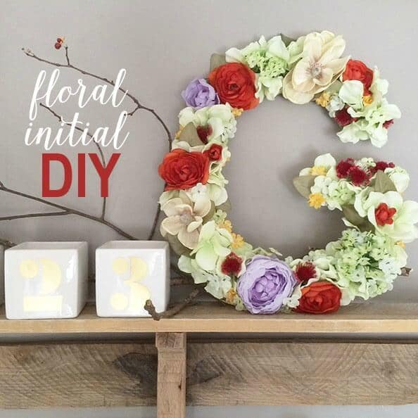 Floral Initial DIY - Greco Design Company featured on Ideas for the Home by Kenarry®