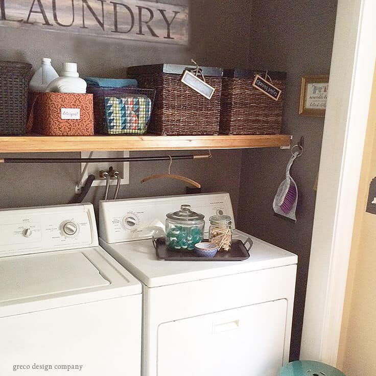 a look at our budget laundry room makeover