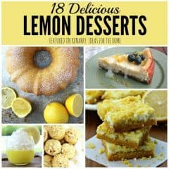 Wow! So many great lemon desserts to try this summer! I love these recipe ideas to make for a picnic, barbecue or party.