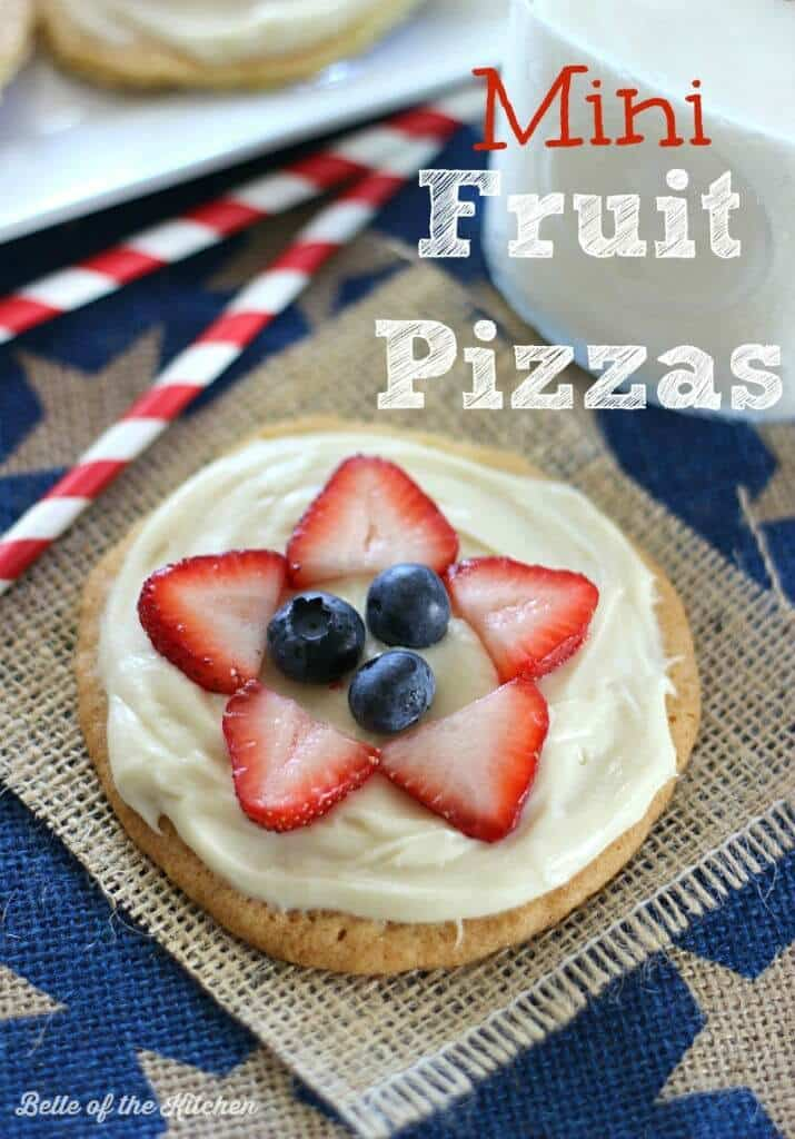 Mini Fruit Pizzas - Belle of the Kitchen featured on Ideas for the Home by Kenarry™
