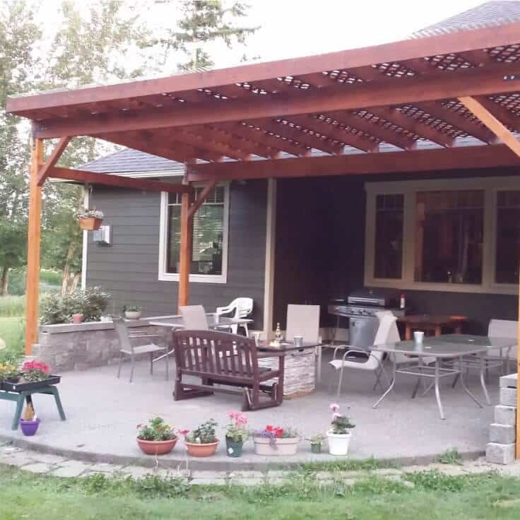 How to build a diy covered patio for Build a freestanding patio cover