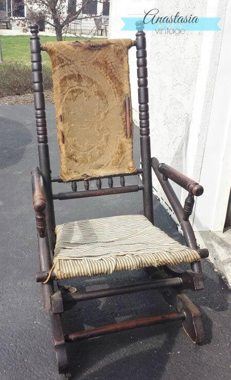 Peachy Antique Rocking Chair Restoration Broken To Beautiful Machost Co Dining Chair Design Ideas Machostcouk